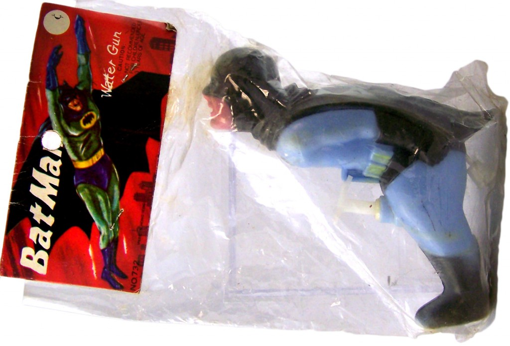 This suggestive Batman squirt-gun is one of Heiler's favorite finds.