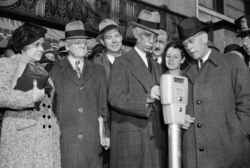 Residents watch with excitement and trepidation as the first meters are inaugurated in Washington, DC, in 1938. Photo courtesy Roth Hall.