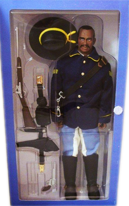 A 12-inch action figure representing a 10th U.S. Cavalry First Sergeant Buffalo Solider. Photo by Debbie Behan Garrett.