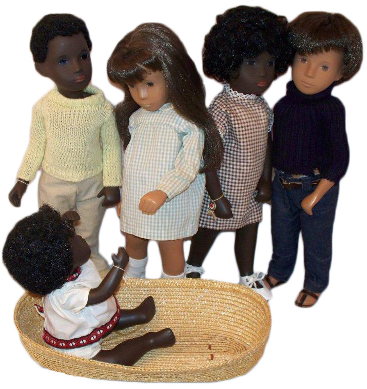 In the 1970s and '80s, Sasha Dolls, created by Swiss artist Sasha Morgenthaler, included black dolls in the line. Photo by Debbie Behan Garrett.