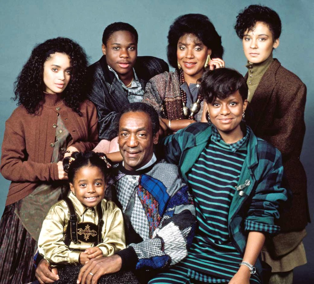 "The entire cast of ""The Cosby Show"" circa 1986."