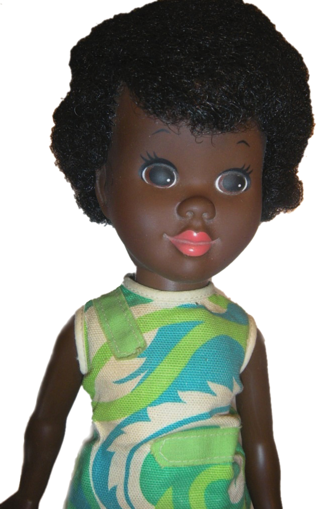 Starting in 1968, Shindana Toy Company, a project out of Operation Bootstrap, made dolls like Malaika, with black facial features and Swahili names.