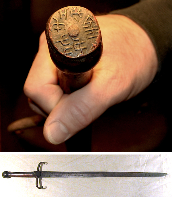"A seal on the pommel of this 13th-century Italian sword reads ""Present From Polo."" The weapon is unremarkable, but its link to the legendary trader gives it historical value."
