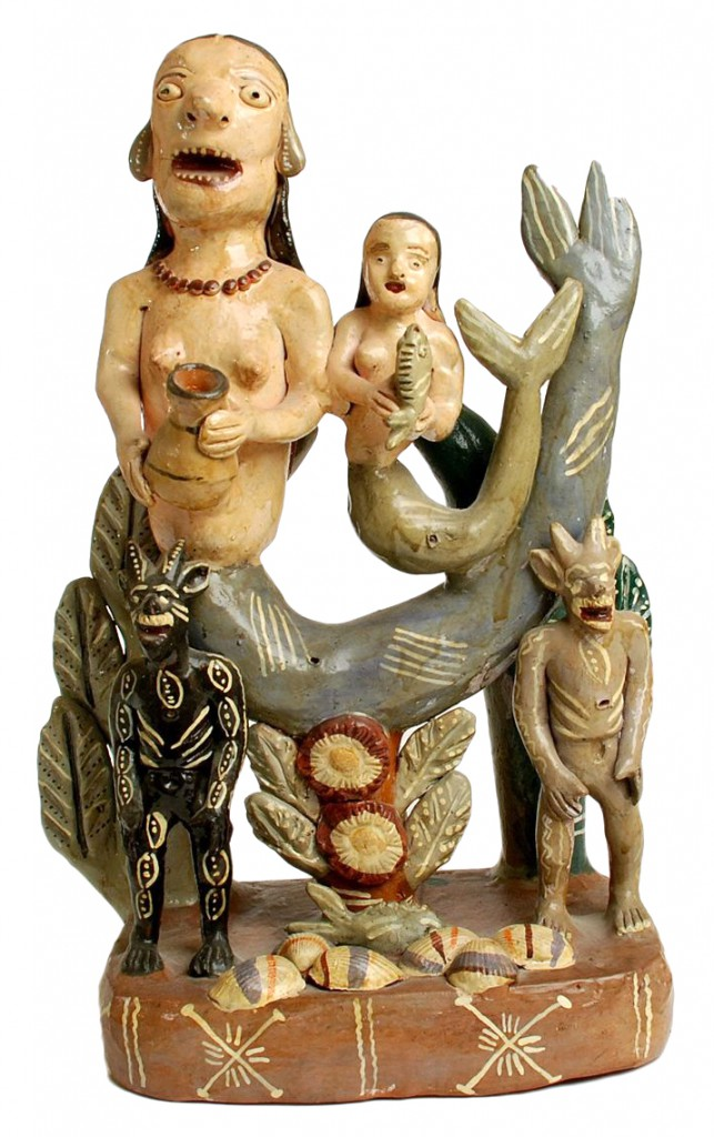 Two singing mermaids are flanked by diablitos. Image courtesy Don Lewis.