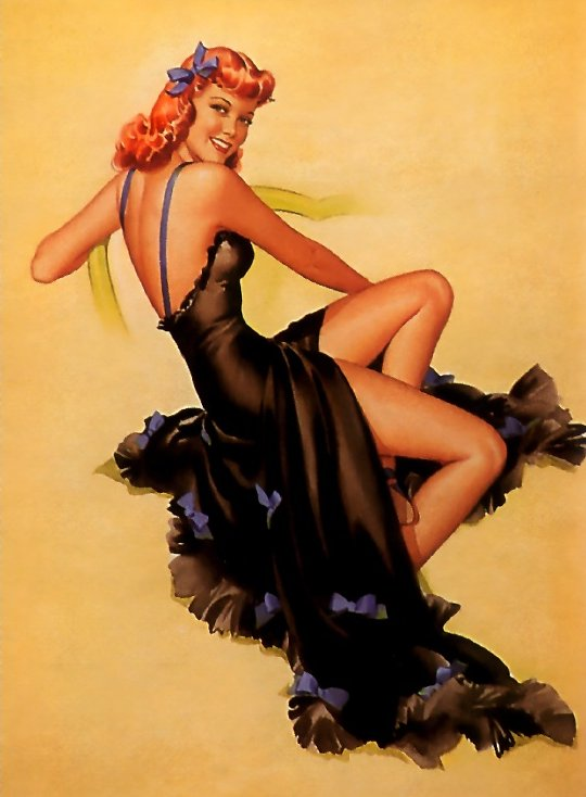 This Pearl Frush painting in particular calls to mind the work of Alberto Vargas.