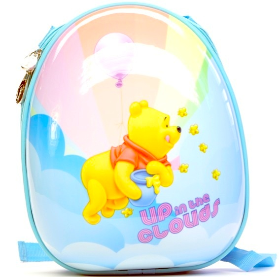 A bulletproof children's backpack has a Winne the Pooh theme. Courtesy of Museum
