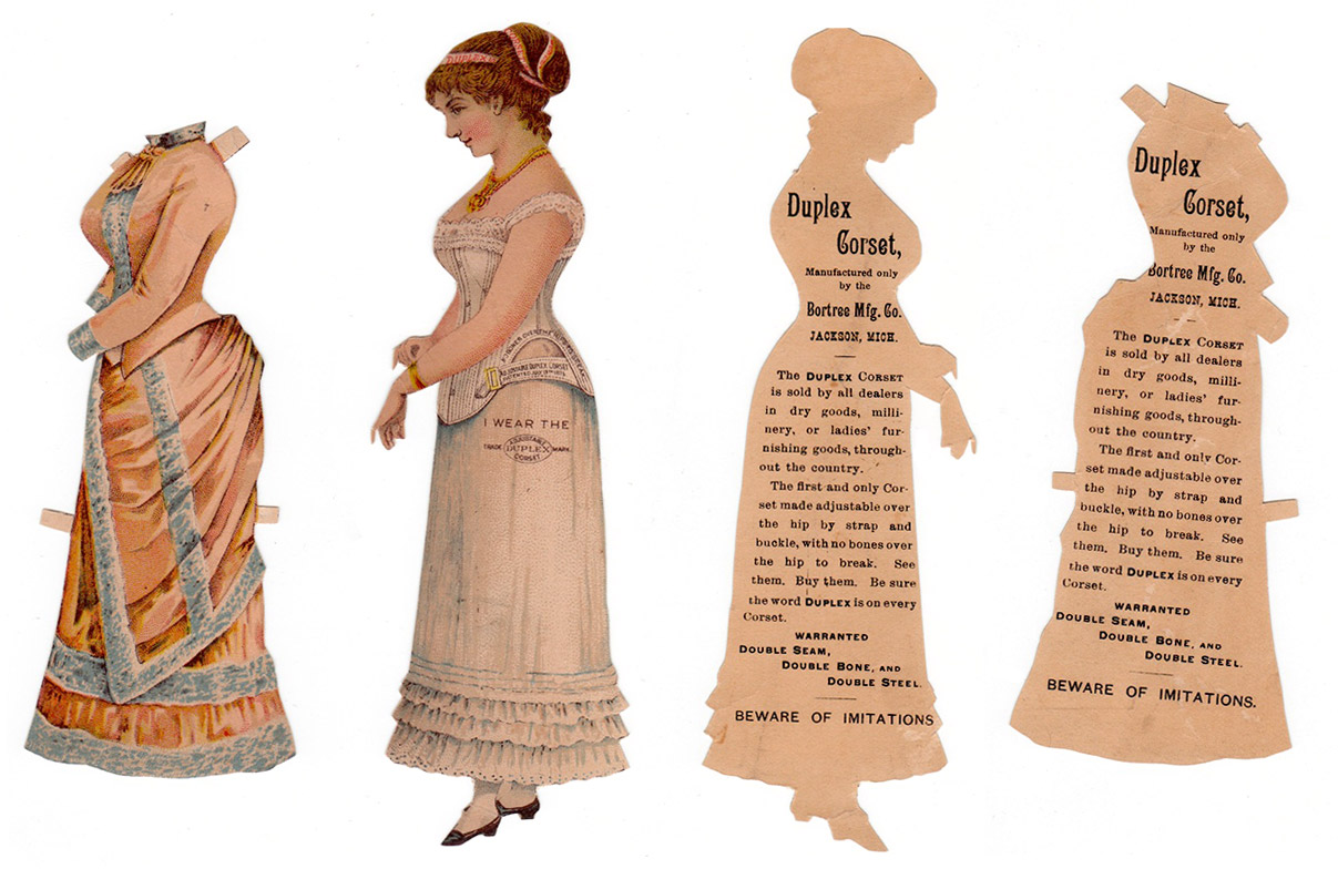 paper doll advertising Duplex Corsets, circa 1886. Courtesy Linda ...