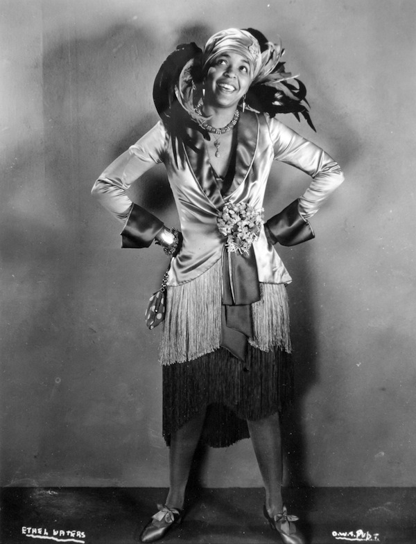 "Ethel Waters got her start on the vaudeville circuit. Here, she poses for a publicity photo for the 1929 film ""On With the Show,"" in which she sings ""Birmingham Bertha."" (Via songbook1.wordpress.com)"