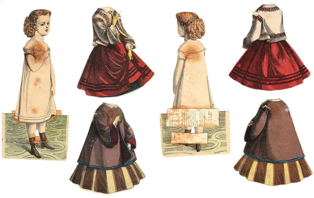 An intricate McLoughlin doll named Carrie Grant, circa 1858. Courtesy Linda Ocasio.
