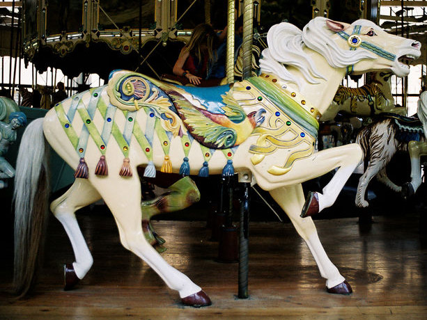 Where Have The Carousel Animals Gone Antique Merry Go Rounds Fight