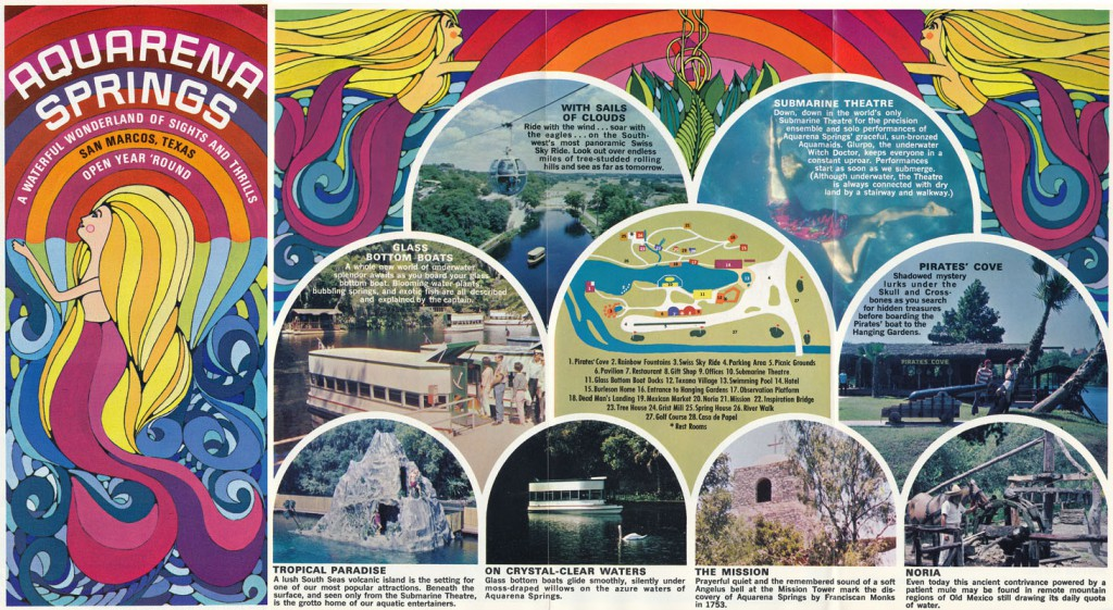 A 1968 brochure for Aquarena Springs.