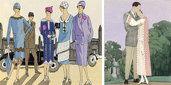 "More examples of 1920s styles from the Art Deco Society of California's ""How to Gatsby"" guide."