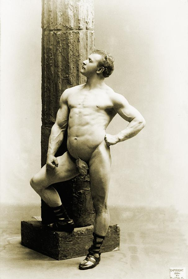 "Photographs of Sandow were given a pass as ""art,"" rather than pornography, because of his classical poses."