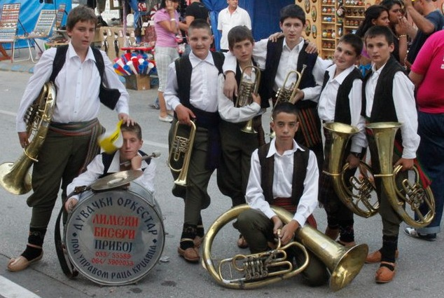"In Serbia, Balkan brass music is dominated by men, many of whom learn to follow in their father's footsteps when they're young boys. (Via the ""Brasslands"" Facebook page)"