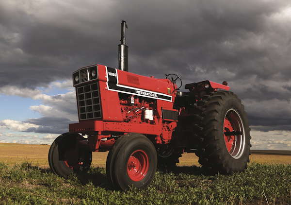 In 1976 the red on international harvester tractors got redder and