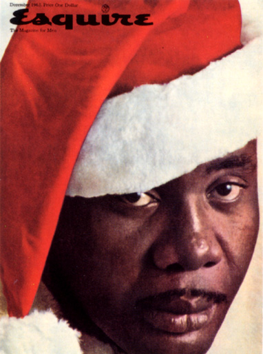 """Esquire"" magazine lost an estimated $750,000 in advertising after it put heavyweight boxing champ Sonny Liston on its cover in a Santa hat in 1963."
