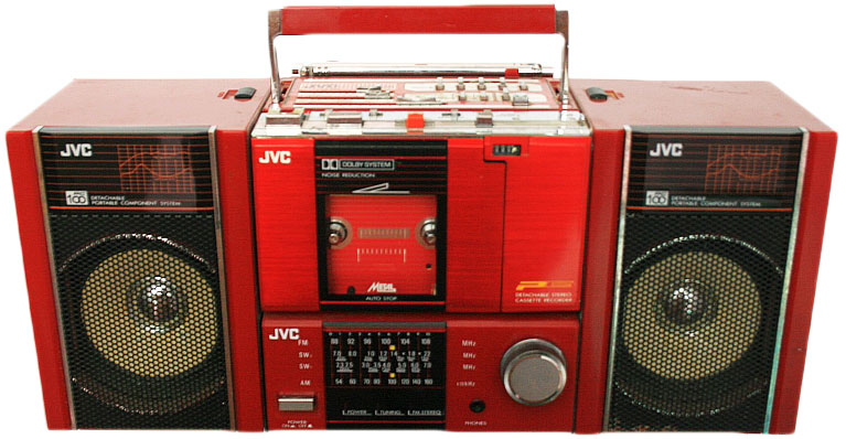 The JVC PC-100 included a detachable cassette player, which started the shift to private audio devices like Walkmans.