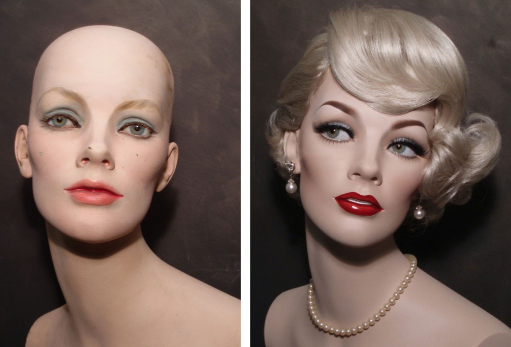 A bit of paint transforms a vintage mannequin, as seen in this before and after shots of a mannequin refurbished by David of Dash-N- Dazzle. http://dashndazzle.com/