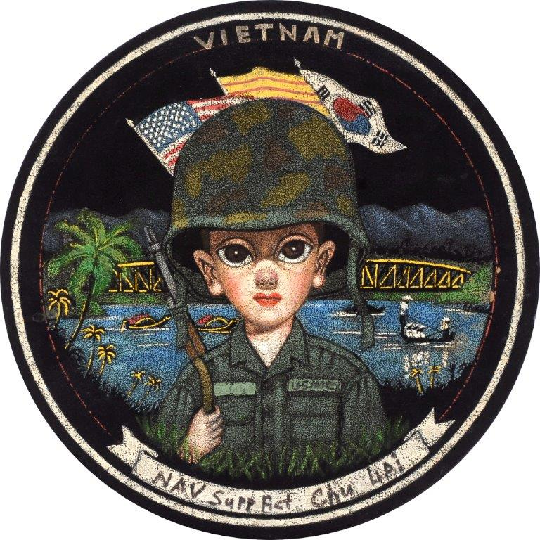 """During the Vietnam War, these images of GIs as wide-eyed children by Suh Kwang Products Limited were snapped up by U.S. soldiers. (From the Velveteria collection in """"Black Velvet Masterpieces"""")"""