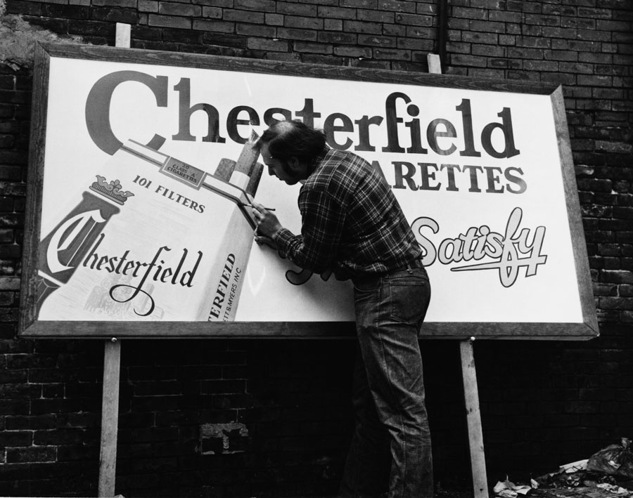 but before cheaply made vinyl banners took the heart out the sign industry hand