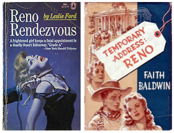 Pulp novels of the 1930s and '40s sensationalized the lurid side of getting a divorce in Reno.