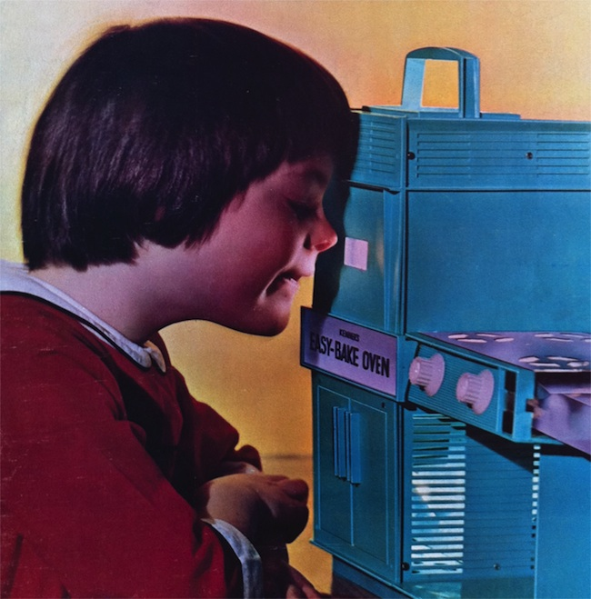 An ad for the original 1963 model of the Easy-Bake Oven shows a boy watching it bake. (Courtesy of Todd Coopee)