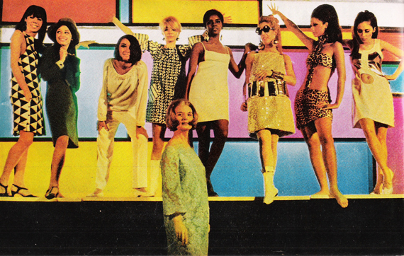 "Mod outfits at a New York disco as featured in ""Life"" magazine in 1966."
