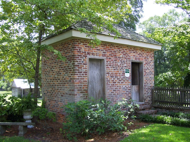 The Poplar Grove kitchen was outside the house, to avoid heating up the mansion. (Photo by Arnold Modlin)