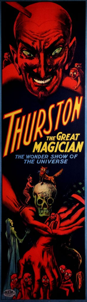 Coutroulis's favorite poster is this ominous lithograph for Thurston, circa 1914. Courtesy Zack Coutroulis.