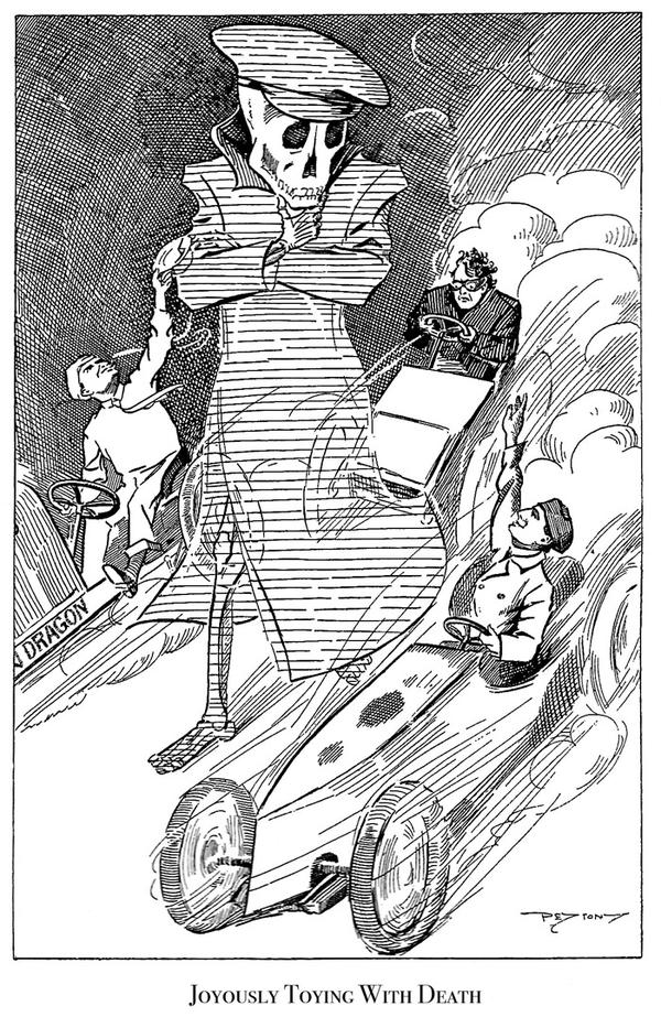 As early as 1905, newspapers were printing cartoons that criticized motor-vehicle drivers.