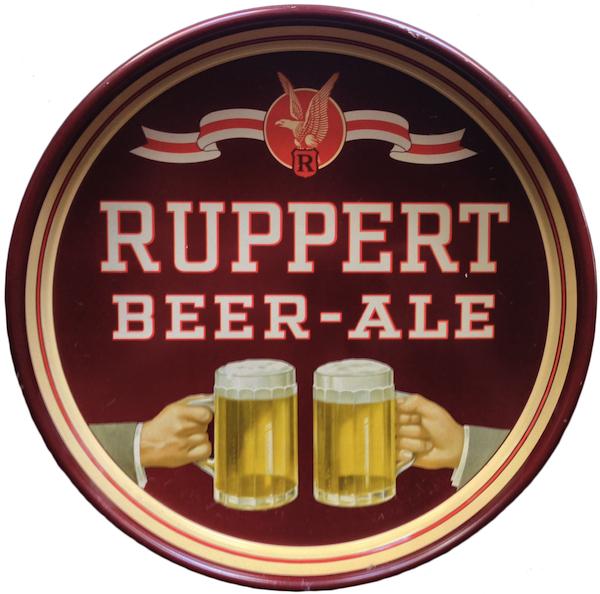 This Ruppert Ale tray is from the late 1930s. Photo by Ken Quaas.