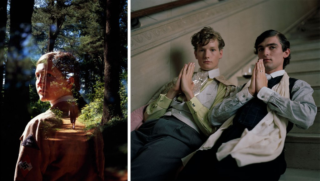 "Left, a re-created shot of Melita Maschmann, the Hitler Youth. Right, a scene with two ""Bright Young Things,"" an affluent party subculture in 1920s London."