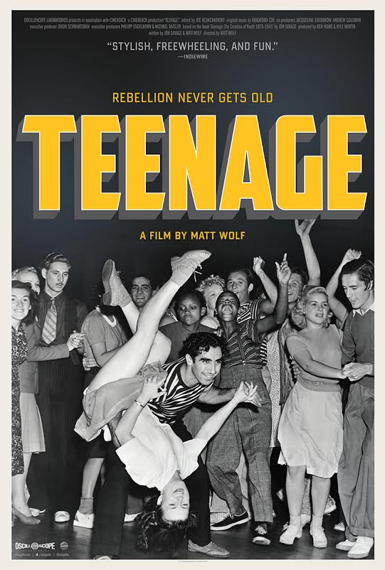"This poster for ""Teenage"" highlights the dramatic impact of swing music and jitterbugging among young people."