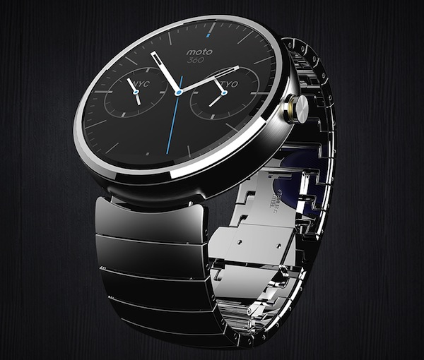 Motorola's entry into the wearables space, the Moto 360, is an unabashedly, traditionally handsome wristwatch, albeit a connected one.