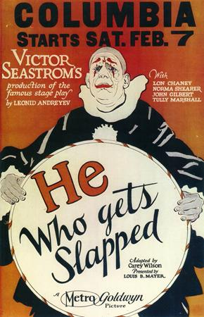 "A poster advertising the 1924 film, ""He Who Gets Slapped."" (Via WikiCommons)"