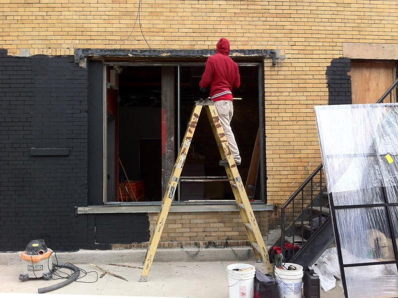 Paint it black: The future Morbid Anatomy Museum gets a new coat of paint. (Via Morbid Anatomy)