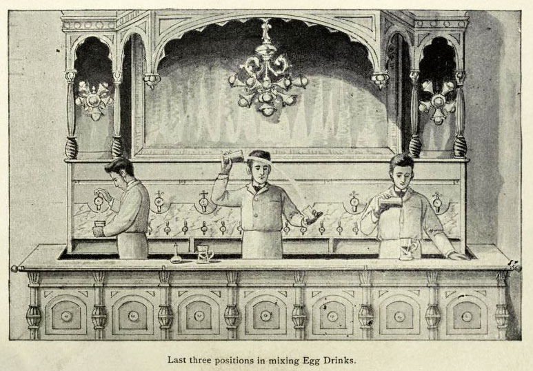 An illustration of proper mixing form from Saxe's 1894 book.