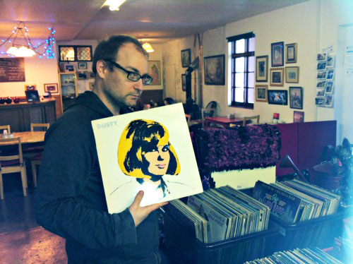 Goldman does a little crate-digging while on vacation in Scotland.