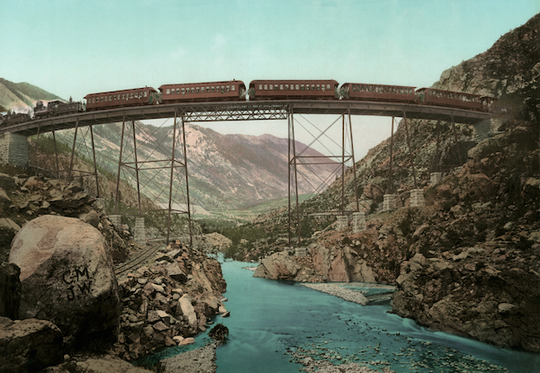 The Georgetown Loop in Clear Creek Canyon, Colorado, by William Henry Jackson.
