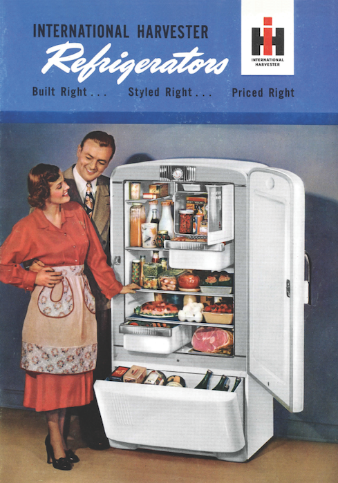 In the late 1940s, rural American women had to convinced of the benefits of refrigerators with built-in freezers.