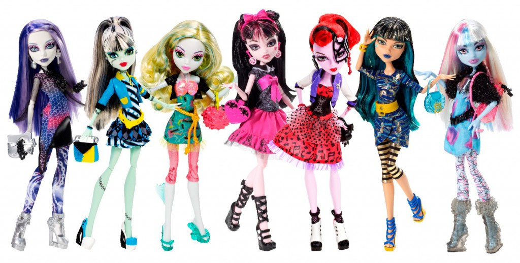 Mattel's line of Monster High dolls offers edgier colors and exaggerated shapes than toys geared toward the under-5 age group.