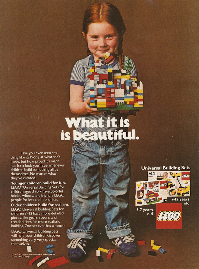 LEGO has been championed for running this 1981 ad that emphasized gender-neutral toys.