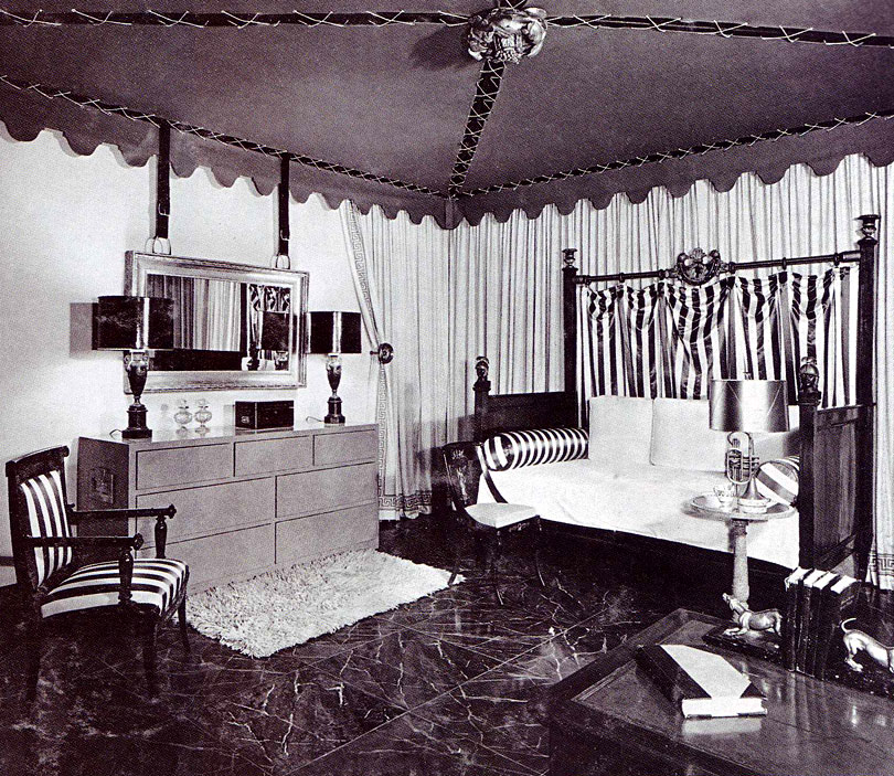 William Pahlmann's Tent Room for Lord & Taylor in 1939.  (Via IndecorousTaste.com)