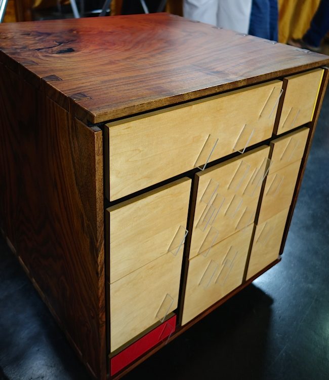 Another Art Carpenter piece, the Mondrian Chest with Plexiglas pulls.