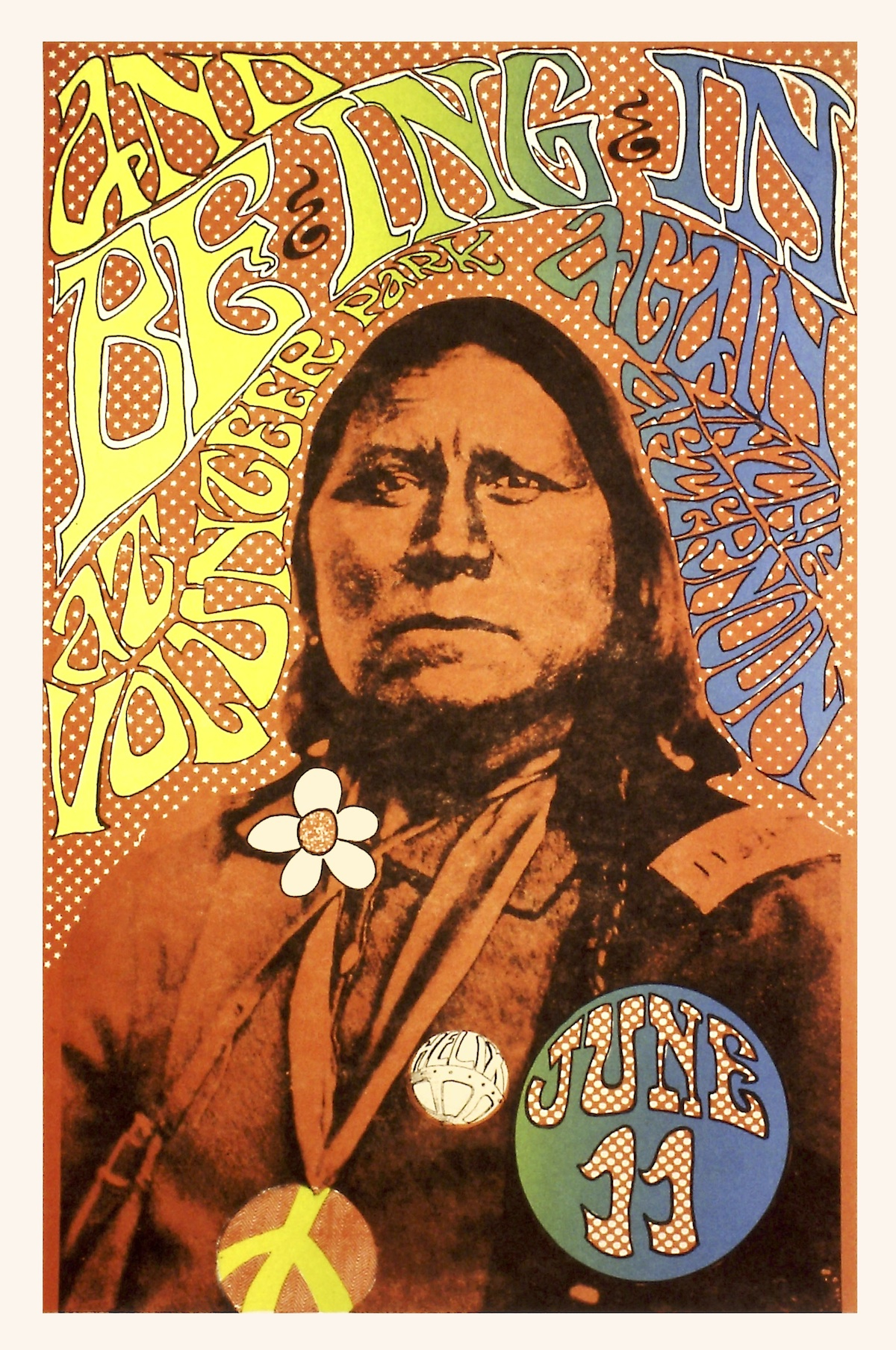 Little is known about artist Gary Eagle, who designed both the poster above and the poster at top, but his work was an important part of Seattle's psychedelic poster scene of the late 1960s.
