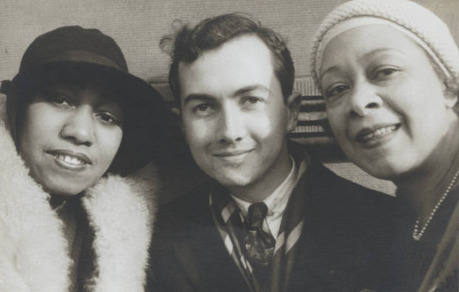 Blues singer Gladys Bentley with singer, composer and critic Nora Holt and illustrator Prentiss Taylor, shot  by Carl Van Vechten on February 27, 1932.