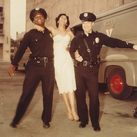 "Dorothy Dandridge, on the set of ""Carmen Jones"" at a RKO studio lot in Hollywood in 1954."