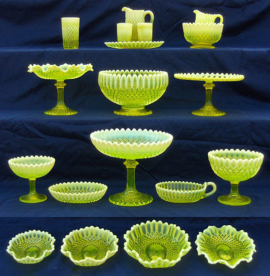 "The Somerset pattern by George Davidson & Co. of England was first produced in 1895. Photo via Dave Peterson at <a href=""http://www.vaselineglass.org/"">VaselineGlass.org</a>"