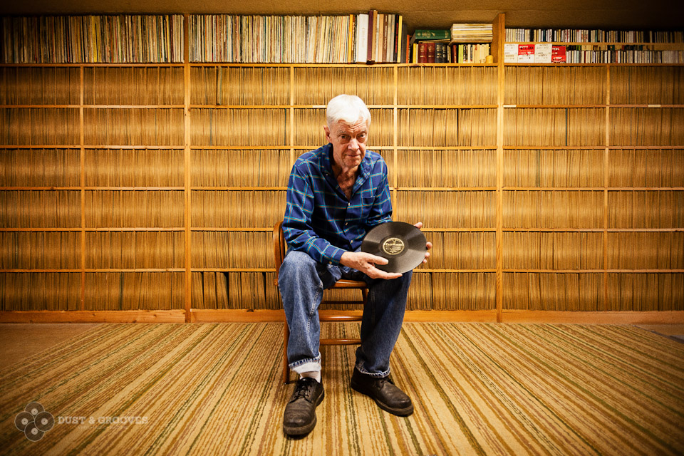 "oe Bussard, who is 78 years old, is the foremost living collector of 78 rpm records and the subject of the 2003 film, ""Desperate Man Blues."" The founder of the last 78 record label, Fonotone, he has more than 15,000 records in the basement of his Frederick, Maryland, home. (Photo by Eilon Paz, via Dust and Grooves)"
