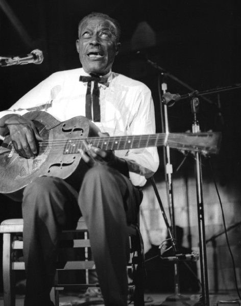 Onetime preacher Son House, who recorded blues for Paramount Records, was a big influence on Robert Johnson. (Via John's Old Time Radio Show)